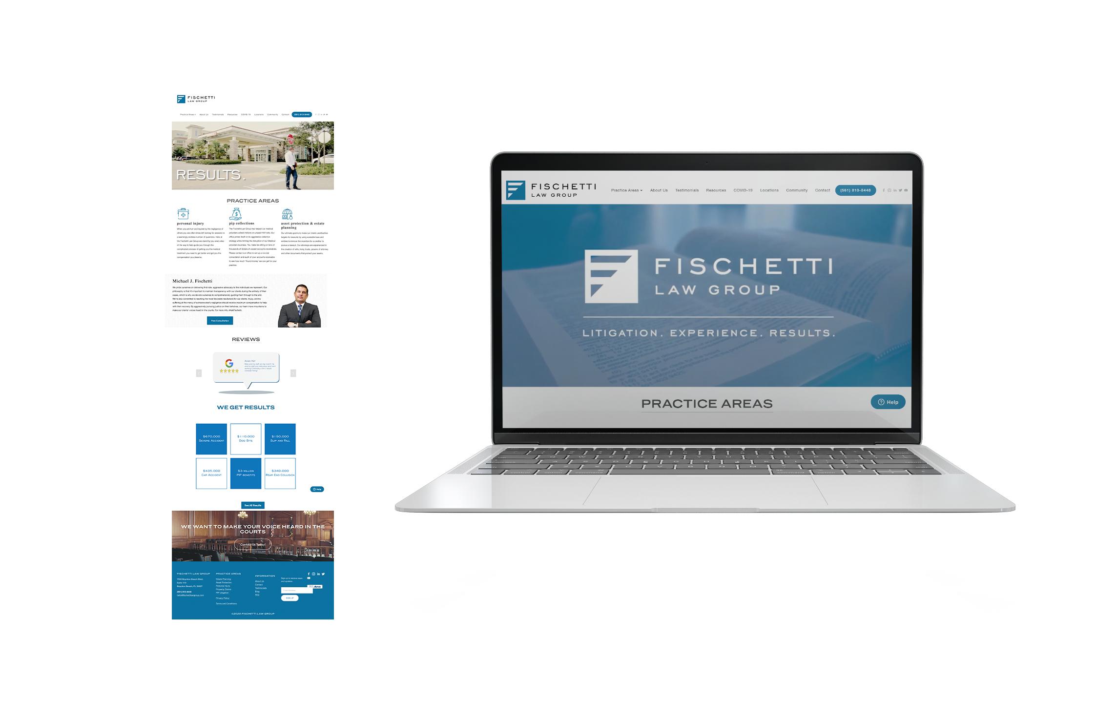 Fischetti Law Group Website